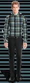 Chemise bleue en flanelle à carreaux-Vue Avant