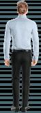 Chemise bleue à carreaux 100% coton-Vue Dos