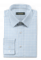 Blue checked 100% cotton Shirt-folded