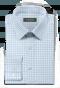 Chemise bleue à carreaux 100% coton-folded