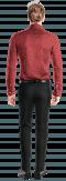 Camicia rossa floreale 100% cotone-Vista Posteriore