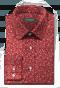 Camicia rossa floreale 100% cotone-folded