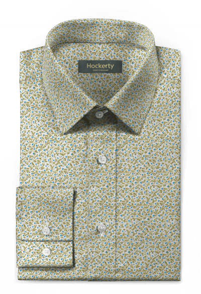 Green floral 100% cotton Shirt