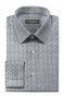 Weißes kleinmuster Hemd mit Umschlag & aus Baumwolle-folded