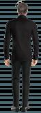 Camicia nera di lino-Vista Posteriore