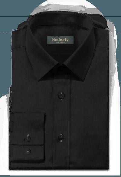 Schwarzes Hemd aus Leinen