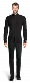 Black linen Shirt-View Front