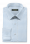Blue french cuff checked 100% cotton Shirt-folded