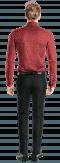 красная хлопковая рубашка с запонками с цветочным рисунком-Вид сзади