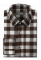 Brown checked linen Shirt-folded