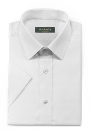 Chemise blanche manches courtes 100% coton-folded