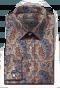 Beige paisleymuster Hemd aus Baumwolle-folded