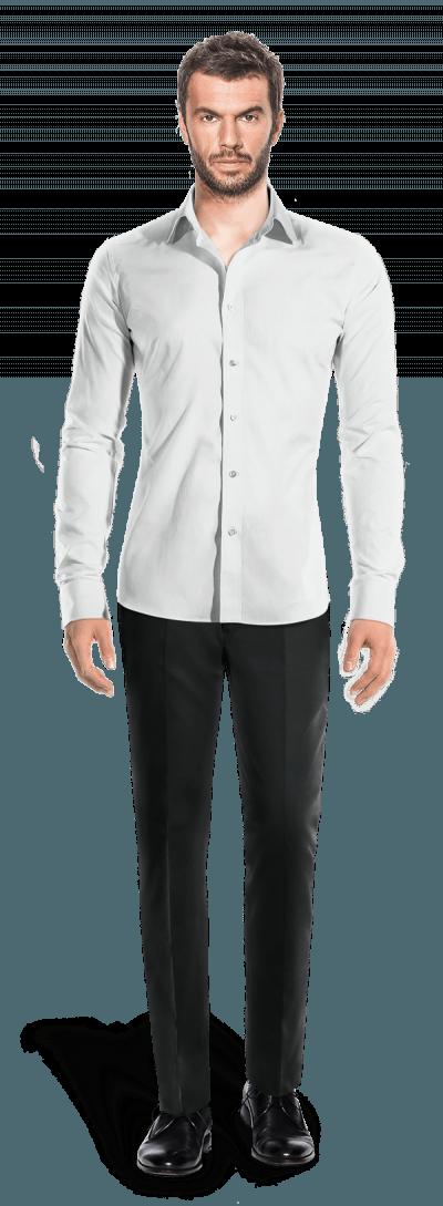 White french cuff linen shirt 69 maynila hockerty for White french cuff shirt