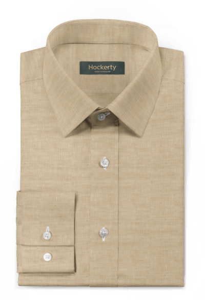 Camicia beige di lino