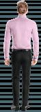 розовая хлопковая рубашка с запонками-Вид сзади
