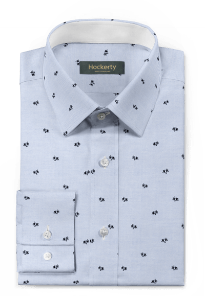 Blue micropattern 100% cotton Shirt