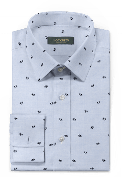Blue french cuff micropattern 100% cotton Shirt