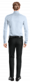 Camicia gemelli blu 100% cotone-Vista Posteriore