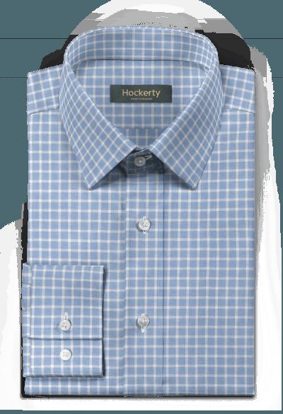 Blue checked linen Shirt