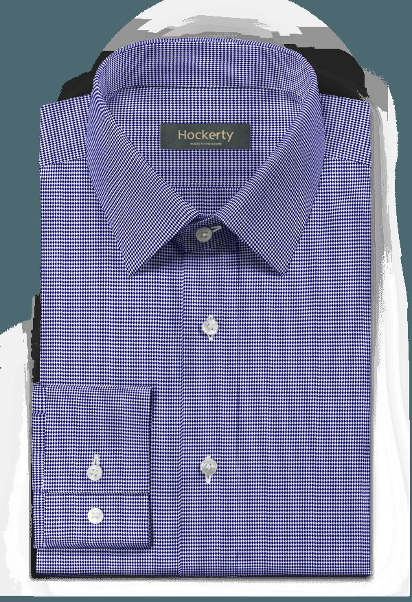 Chemise bleue à chevron 100% coton