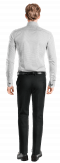 Camicia gemelli bianca a pois 100% cotone-Vista Posteriore