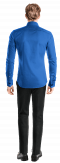 Camisa azul con gemelos 100% algodón-Vista Trasera