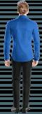 Blue french cuff 100% cotton Shirt-View Back