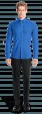Camisa azul con gemelos 100% algodón-Vista Frontal