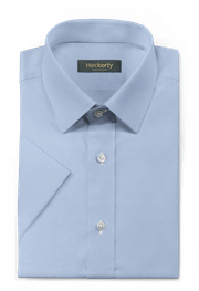 Chemise bleue manches courtes-folded