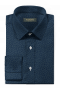 Chemise bleue boutons de manchette à motif floral 100% coton-folded