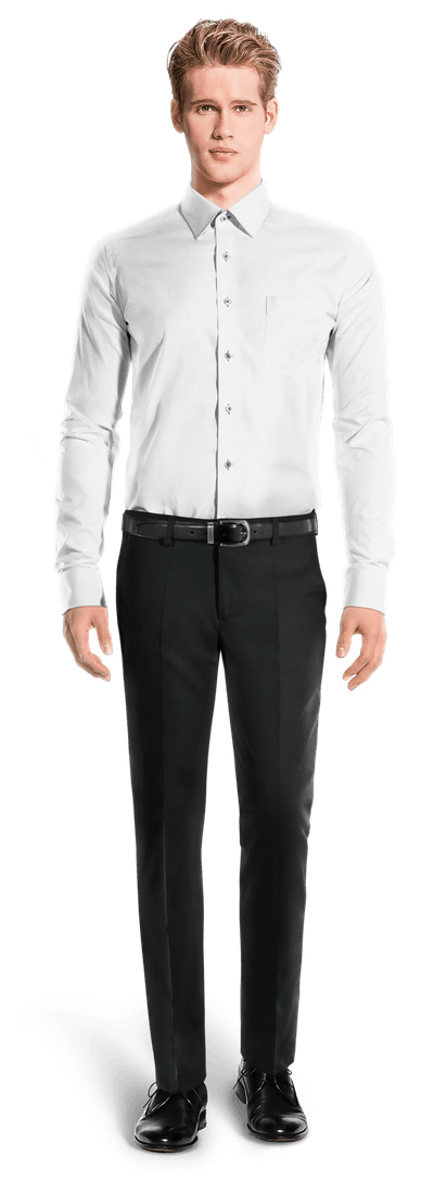 camisa a medida gemelos blanca