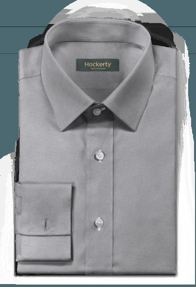Grey french cuff oxford Shirt