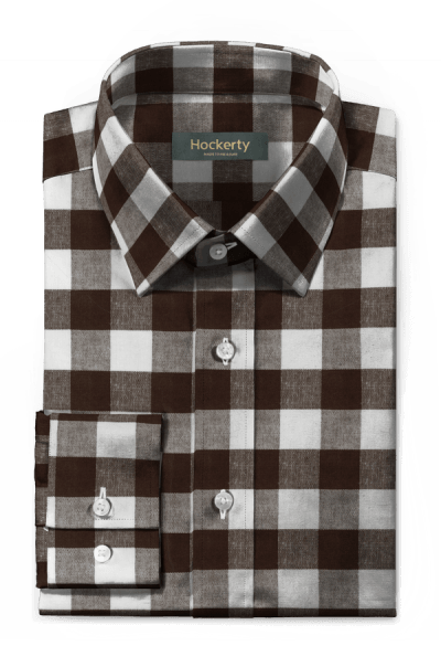 Brown checked linen Shirt