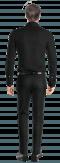 Chemise noire boutons de manchette 100% coton-Vue Dos