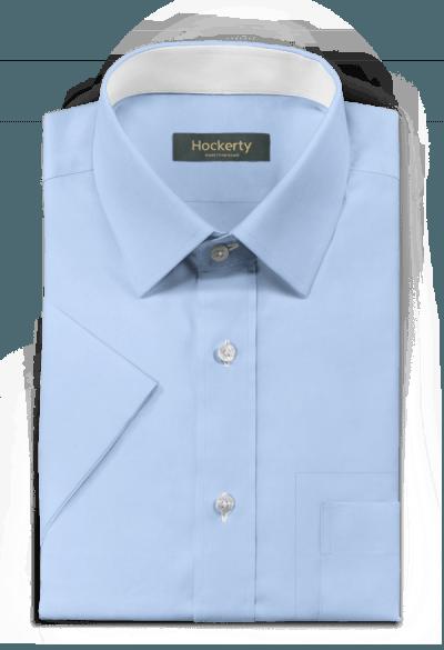 Blue short sleeved 100% cotton Shirt