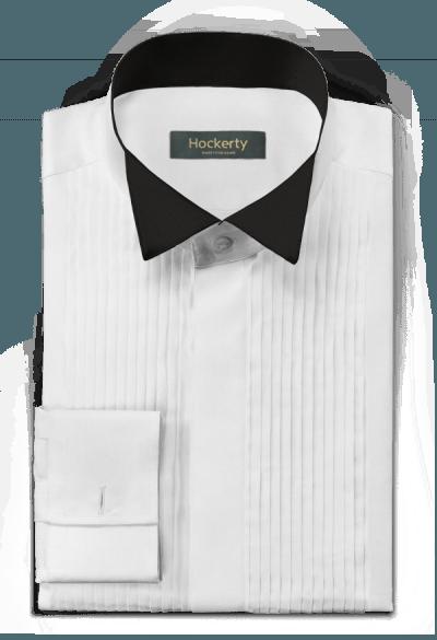 Weißes Hemd mit Umschlag & aus Baumwolle