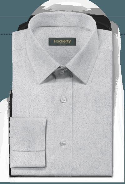 Graues flanell Hemd mit Umschlag