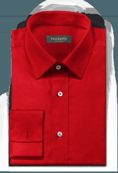 Chemise rouge boutons de manchette 100% coton
