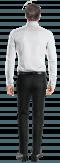 White 100% cotton Shirt-View Back