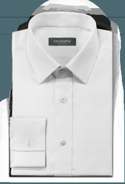 Chemise blanche boutons de manchette 100% coton