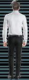 Camicia gemelli bianca 100% cotone-Vista Posteriore