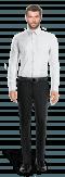 Camicia gemelli bianca 100% cotone-Vista Frontale
