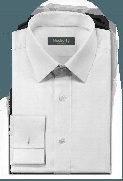 белая хлопковая рубашка с запонками