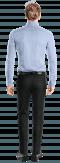 Blue striped 100% cotton Shirt-View Back