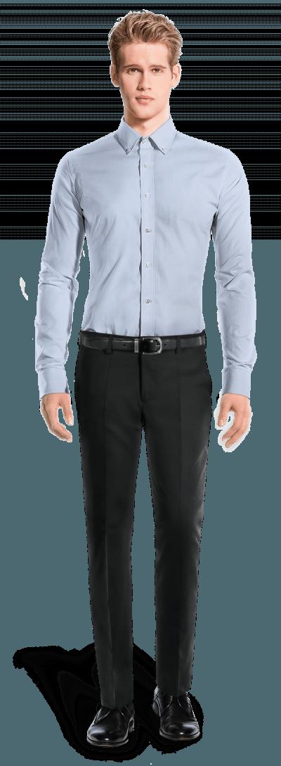 Blue 100% cotton Shirt
