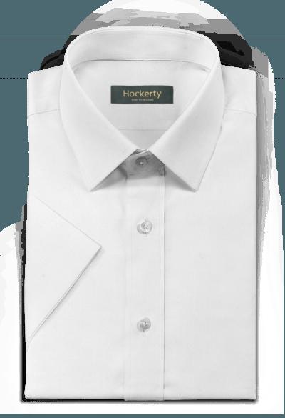 Chemise blanche manches courtes 100% coton