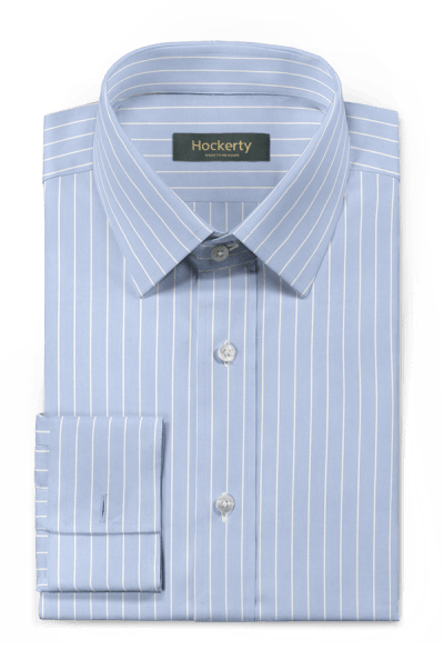 Blue french cuff striped 100% cotton Shirt