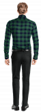 Green flannel checked Shirt-View Back