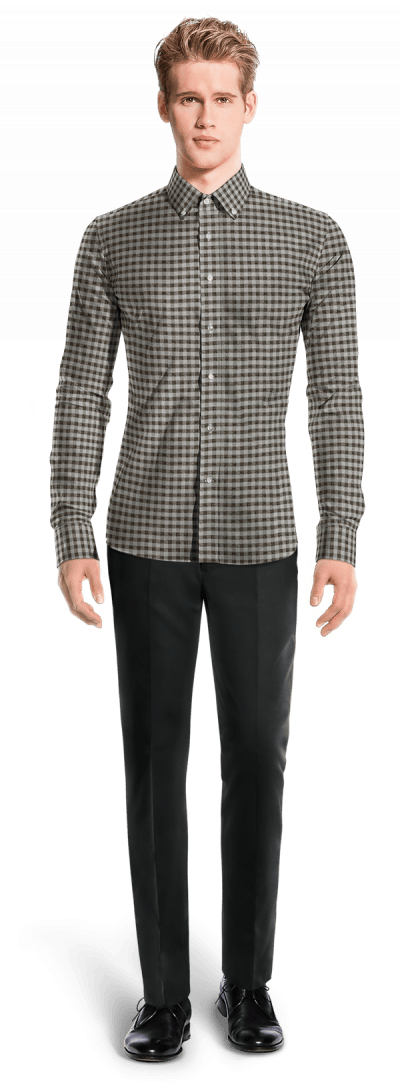 Grey flannel checked Shirt
