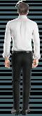 Camicia oxford bianca-Vista Posteriore